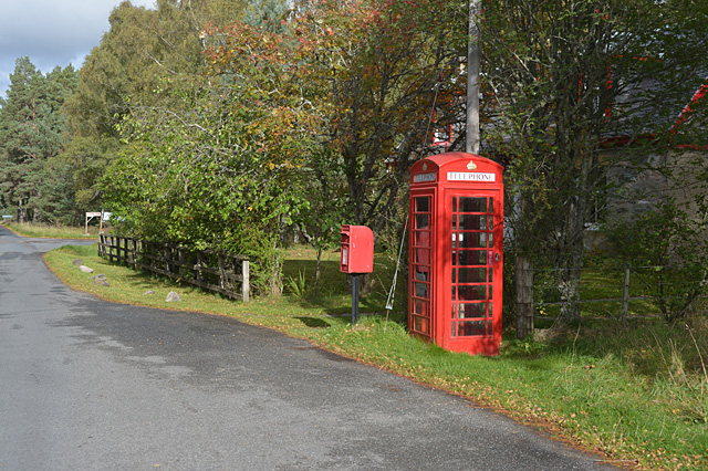 Feshiebridge phonebox and postbox