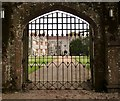 SY7794 : Entrance driveway and gate for guests, Athelhampton House, Dorset by Derek Voller
