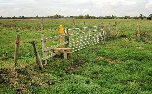 Stile near Langar Grange by Derek Harper