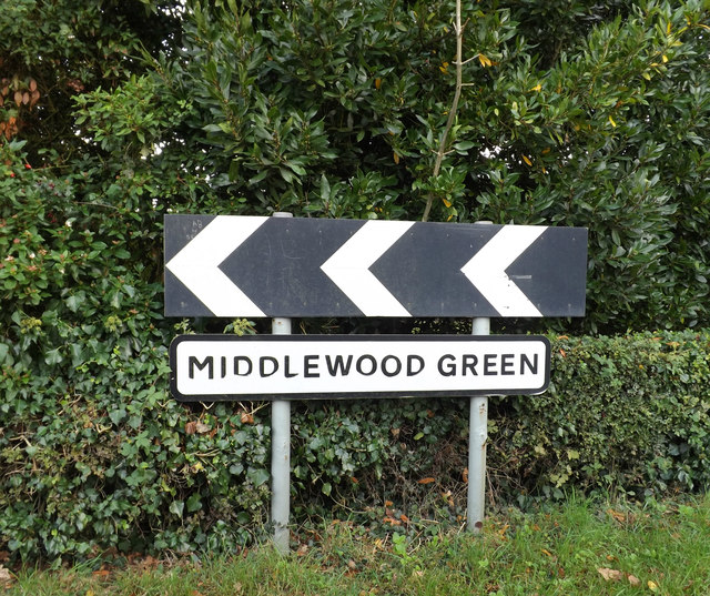 Middlewood Green Village Name sign