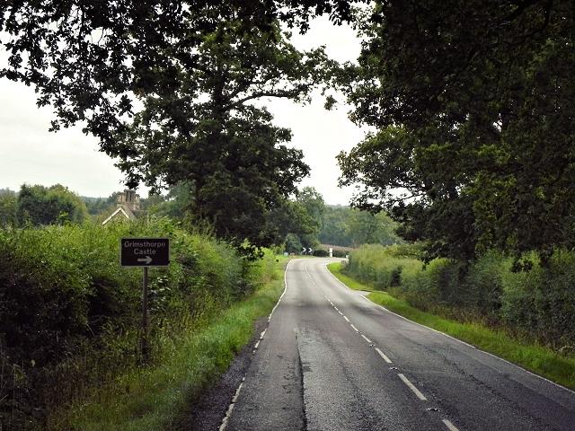 Eastbound A151 near Grimsthorpe Castle
