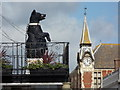 SY9287 : Wareham: the Black Bear and the Town Hall clock by Chris Downer