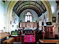 SO3909 : St Peter's church, Bryngwyn - interior by Ruth Sharville