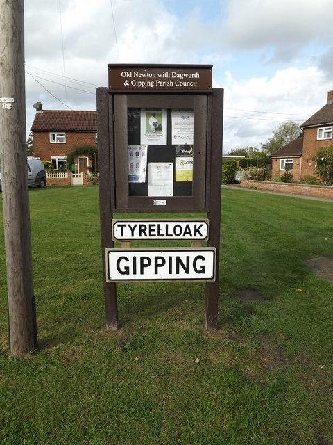Tyrell Oak Village sign & Notice Board