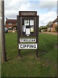 TM0663 : Tyrell Oak Village sign & Notice Board by Adrian Cable