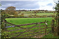SS8930 : West Somerset : Grassy Field & Gate by Lewis Clarke