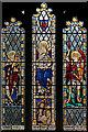 TL4164 : St Andrew, Oakington - Stained glass window by John Salmon