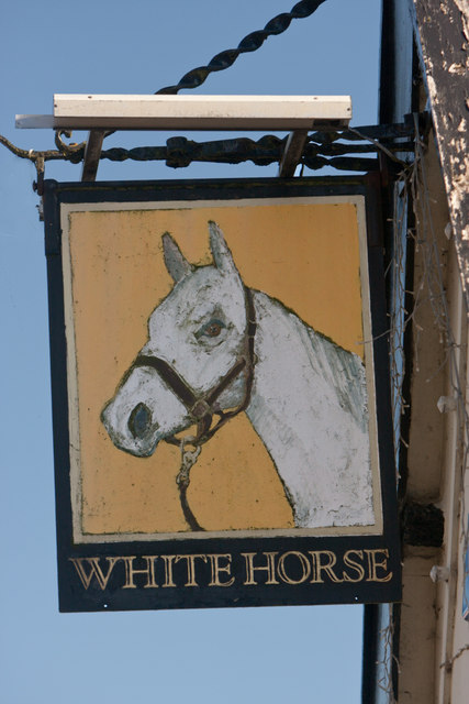Rickinghall White Horse sign
