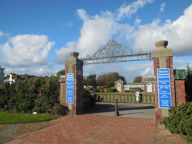 Gates to Marine Gardens. Worthing
