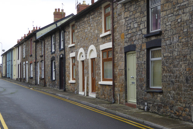 Row of miners cottages