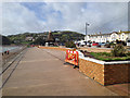 SX9472 : Nearly finished – repairs to seafront planting following storm damage, Teignmouth by Robin Stott