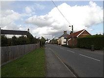 TM0562 : B1113 Finningham Road, Old Newton by Geographer