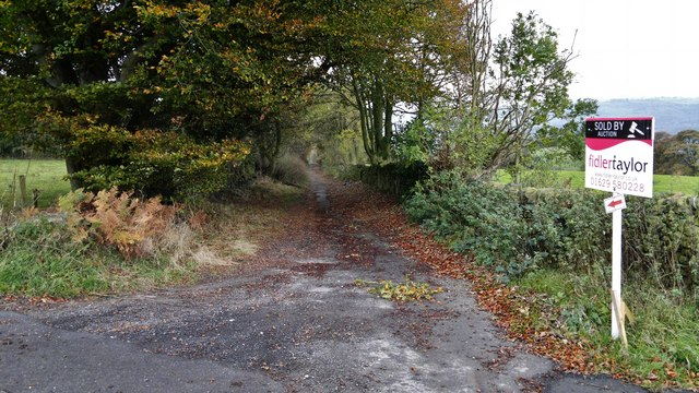 Back Lane below Sydnope Hall Farm
