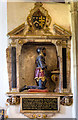 TQ1258 : St Mary's church, Stoke D'Abernon - monument to Sir John Norbury by Mike Searle