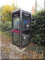 TM0960 : Telephone Box on Blacksmiths Lane by Adrian Cable