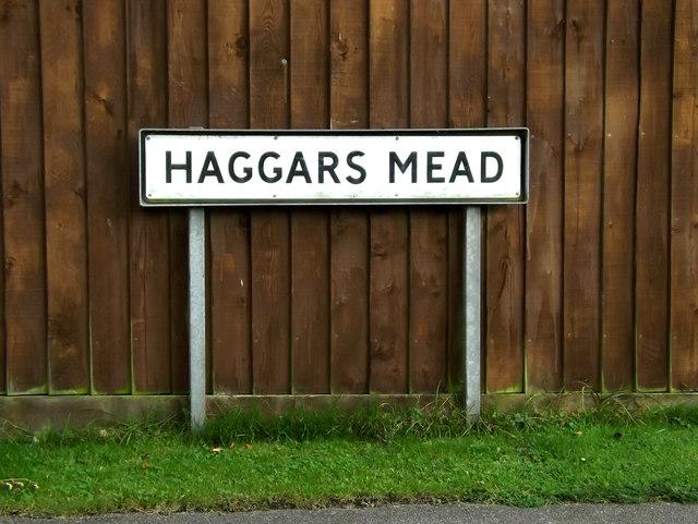 Haggars Mead sign