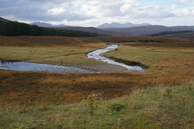 Abhainn Droma, taken from the A835