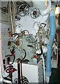 TQ3380 : HMS Belfast - forward engine room - cruising turbine. by Chris Allen