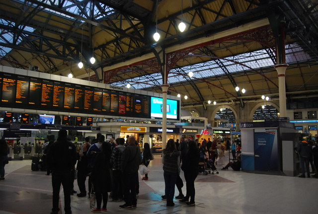 Inside Victoria Station