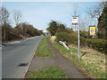 SP0773 : Bus stop by southbound slip road off A435 between Inkford and Blackoak by Robin Stott