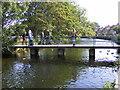 SK2168 : Bakewell Footbridge by Gordon Griffiths