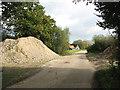 TM3078 : Public footpath past Common Farm by Evelyn Simak