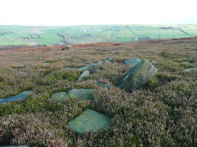 Rocks on Higher House Moor