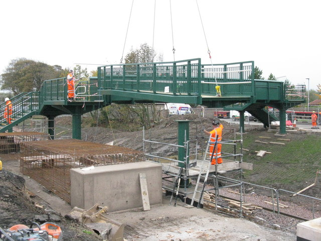 Bridge building at Newtongrange