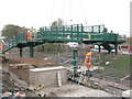NT3364 : Bridge building at Newtongrange by M J Richardson