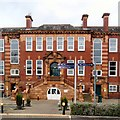 SJ9595 : Hyde Grammar School: Main Entrance by Gerald England