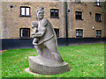 TQ3579 : Christopher Jones statue, St Mary, Rotherhithe by Stephen Craven