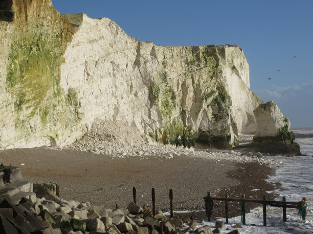 Cliff fall at Seaford