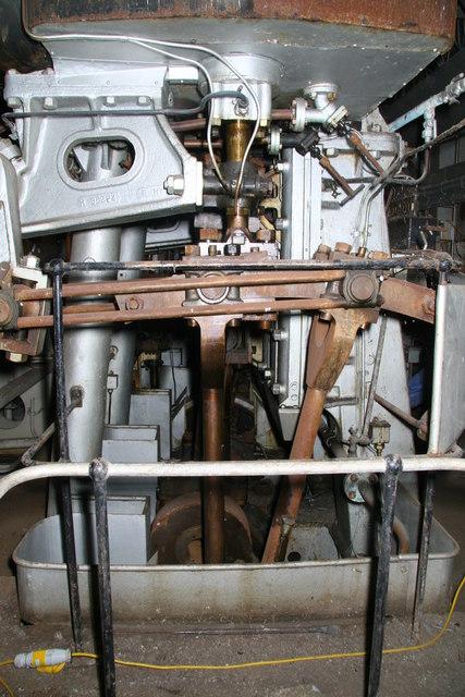 HMS Stalker - port engine room
