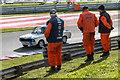 TM0089 : Marshals, Snetterton Racing Circuit, Snetterton, Norfolk by Christine Matthews