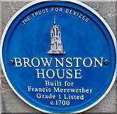 SU0061 : Brownston House blue plaque, Devizes by Jaggery