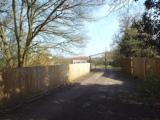 Drive to a new bungalow, rear of Barkers Lane between Inkford and Tanner's Green