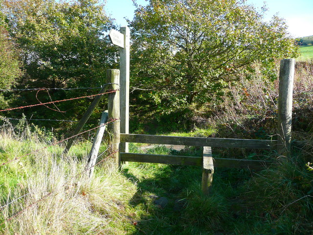 Stile at the top of Long Lane