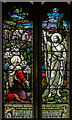TQ7408 : Stained glass window, St Peter's church, Bexhill by Julian P Guffogg