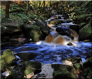 SK2579 : Falls in Padley Gorge by Andy Stephenson