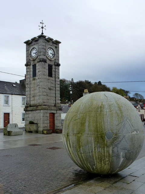 Clock Tower and Sculpture