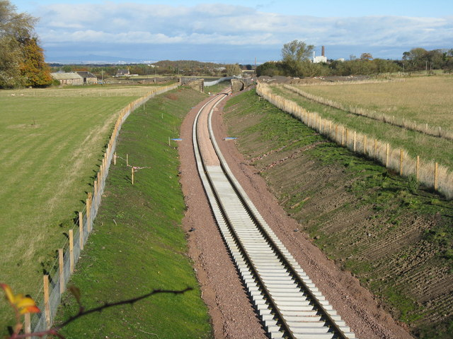 The Borders Railway from Povert Road