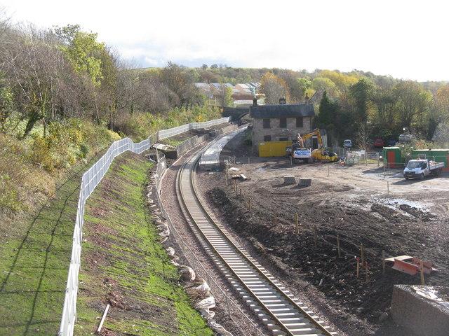 Gorebridge station and station yard