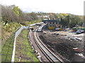 NT3461 : Gorebridge station and station yard by M J Richardson