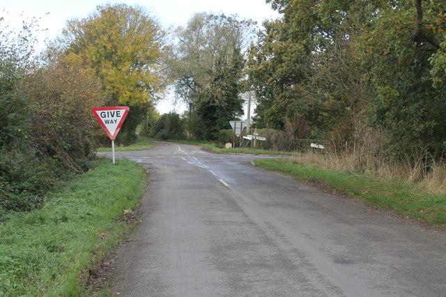 Crossroads near Thorney Moor