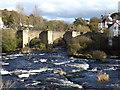 SJ2142 : The bridge at Llangollen across the River Dee by Richard Hoare