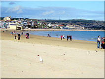 SY6879 : Weymouth Beach on a Sunny Late Autumn Afternoon by Roy Hughes
