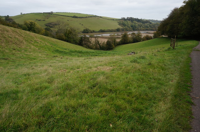 View from the Ashprington to Totnes Cycle Track