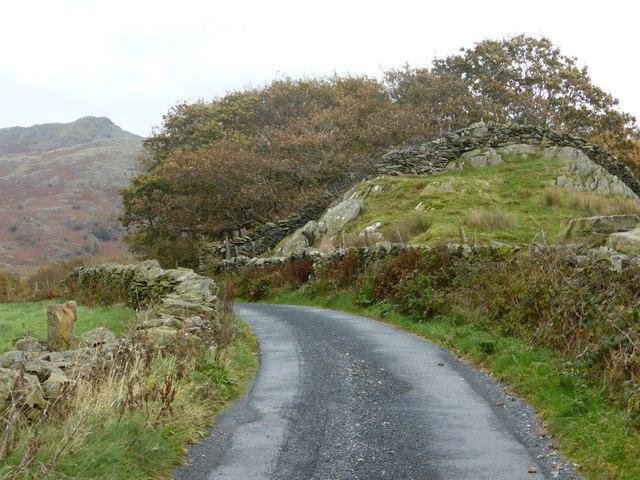 Roadway between Old Hall Farm and Ulpha