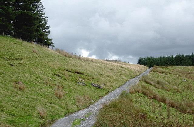 Old drove road to Nant-y-Stalwyn, Ceredigion