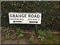 TQ7968 : Vintage street nameplate, Grange Road, Grange by Chris Whippet